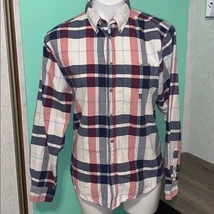 Wrangler jeans red white and blue flannel